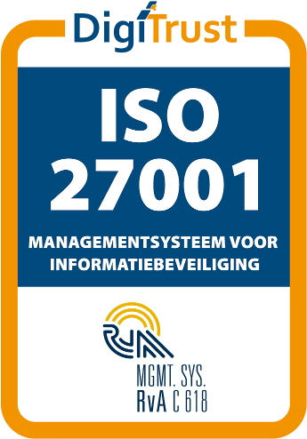 ISO27001 certified by DigiTrust B.V.